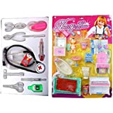 Shop & Shoppee Combo Of Doctor Medical Nursing Set & Pretty House Furniture Kit (Multicolor)