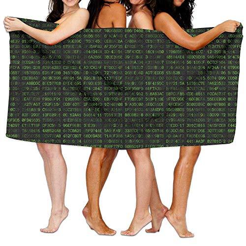 Übergroßes Mikrofaser-Strandtuch Decke Programmierer Code Super saugfähig Badetuch für Outdoor Camping Sport Reisen Schnell trocknend 80 x 132 cm (Victoria Secret Decke)