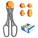 La Croquetera Pack- Utensilio Multiusos Color Naranja - 4 moldes Intercambiables para masas + Pack 20 Bandejas conservación - 100% español : Patentado y Fabricado en España