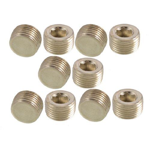 Male Threaded Plug (10 Stück 3/20.32 cm PT Innengewinde Rohr interne Sechskant-Metall-Stecker)