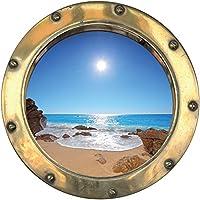 Youdesign 1442 - Vinilo adhesivo de portilla al océano (30 x 30 cm)