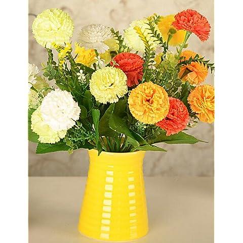 En la decoración del hogar de flores artificiales, Seda / Plástico Crisantemo Flores artificiales , color rojo.