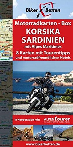 Korsika-box (Motorradkarten-Box Korsika   Sardinien: Acht Tourenkarten für Motorrad-Reisende (Motorradkarten-Box / Tourenkarten für Motorradfahrer))