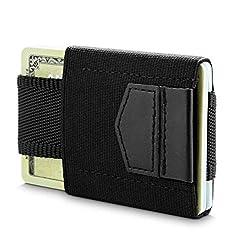 Minimalist Wallet and Slim Credit Card Holder -Black