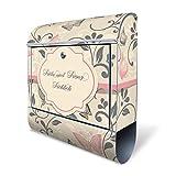 Banjado Design Briefkasten personalisiert mit Motiv WT Erwachen | Stahl pulverbeschichtet mit Zeitungsrolle | Größe 39x47x14cm, 2 Schlüssel, A4 Einwurf, inkl. Montagematerial