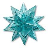 Folia Bascetta Stern 'Winterornament', 15x15cm, türkis/kupfer, 32-teilig (1 Set)