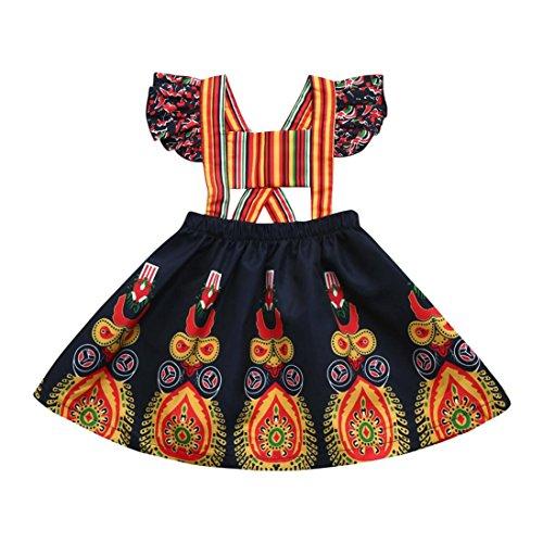 s Baby Girls Princess Dress Backless Party Pageant Boho Floral Dresses (110) (3t Hexe Kostüme)