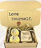 Love Yourself Self Care Gift Set, relax gift box, spa bath bomb set, pamper hamper vegan spa gift set, luxury organic valentines gift