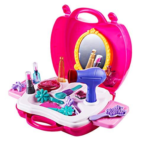 MAJOZ Kunststoff Kinder Schminkset Schminksachen Schönheit Prinzessin Mädchen Koffer Rollenspiel...