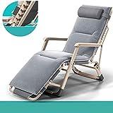 Eeayyygch Sofa Betten Loungestuhl Balkon Haushalt Klappstuhl Büro Lunch Stuhl Siesta Bett Lazy Chair Strandstuhl Couch (Farbe: Grau), metall stahl,
