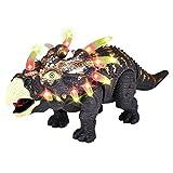 Bescita Triceratops Dinosaurier, Spielzeug mit Walking Lichtern & Sounds Funktionen für Jungs,Partyzubehör, Lernstoffe