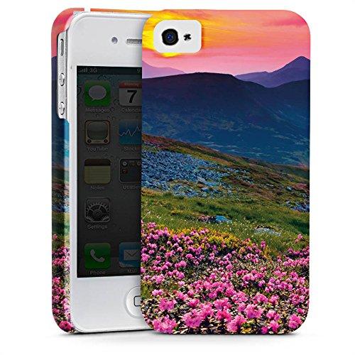 Apple iPhone X Silikon Hülle Case Schutzhülle Blumenwiese Sonnenuntergang Abendrot Premium Case glänzend