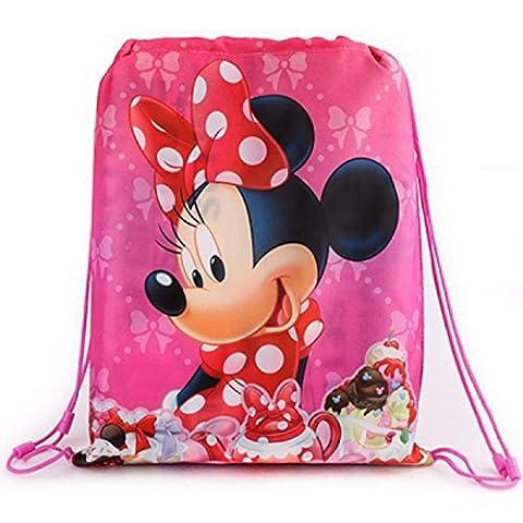 Minnie Mouse Sport Bag, Gym Bag, Shoe Bag-Waterproof Wipe Clean