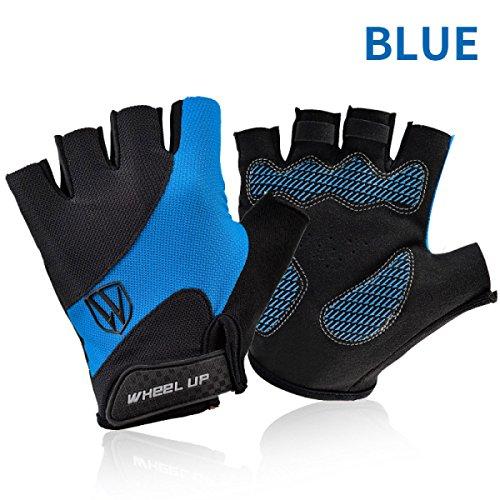 Wheelup Bike Full Finger / Half Finger Cycling Gloves Biking Gloves Gym Gloves Mountain Bike Gloves Fitness Bodybuilding Exercise Gloves For Sports - TRIDEER Breathable Microfiber Lycra Material And Silica