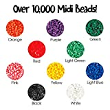 Hama 28178320140 Beads 10,000 Beads in a Bucket - Multicolour