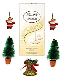 Lindt Lindor Irresistibly Smooth White Chocolate, 100gm Combined with X'MAS GOODIES