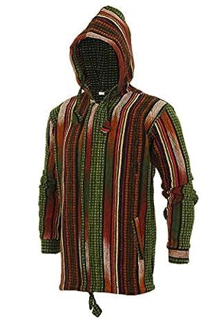 ThaiUK Herren Jacke Mehrfarbig Multi Gr. S, Mehrfarbig - Multi (Nepal Herren Hoodie)