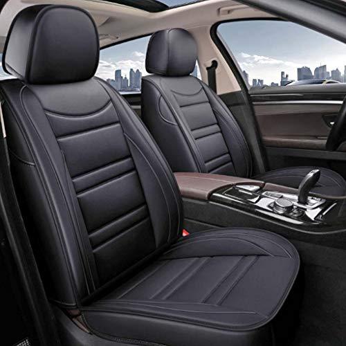 Schwarz Wasserdichte Autositzbezüge Komplettset - Universal for 5-Sitzer SUV-Lkw mit Limousine Passgenau for BMW F10 F11 F15 F16 F20 F25 F30 F34 E60 E70 E90 3. Januar 4 5 7 Serie GT X1 X3 X4 X5 X6 aut