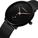 Men Fashion Sport Quartz Watch Stainless Steel Band Waterproof 30M with Chronograph and Calendar Fashion Dress Watch for Men