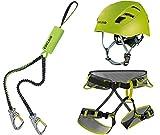 Edelrid Klettersteigset Cable Kit Lite 5.0 + Gurt Größe M + Helm