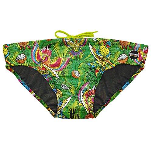 KiarenzaFD Whitesand Kostüm Meer Schwimmbad Slip Druck Bunt Modelle 2018Shirts, whitesand_Slip-M-Parrots, Parrots, Medium (Kostüm Parrot)