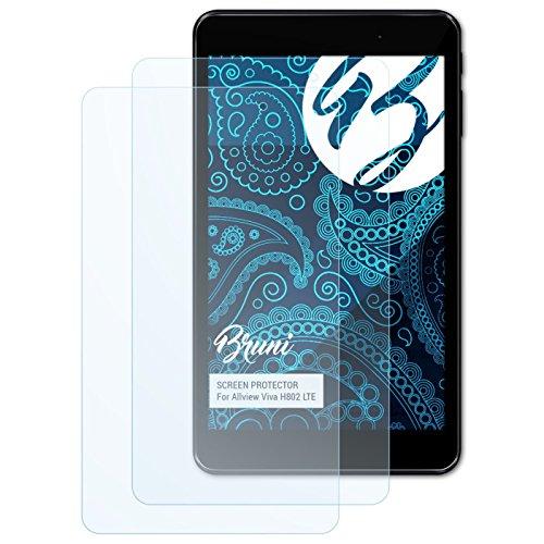 Bruni Schutzfolie für Allview Viva H802 LTE Folie, glasklare Bildschirmschutzfolie (2X)
