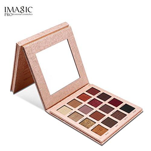 Jaminy 16 Farbe coloShimmer Glitter Lidschatten Puder Matt Lidschatten kosmetische Make-up (A) (B)