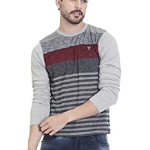 Vudu Men's Slim Fit Casual T-Shirt (TA0039-S)
