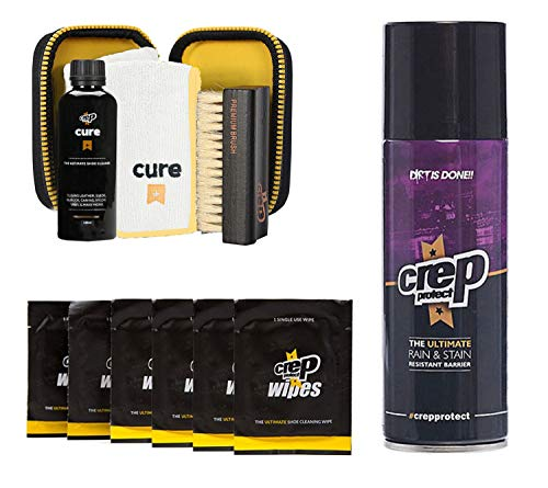 Crep Protect Crep Protect Cure Kit, Ultimate Rain and Stain Shoe Spray and 6 Wipes