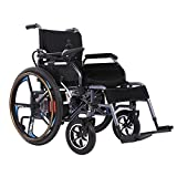 Electric Power Wheelchair with Intelligent Joystick, Speed Indication, 24 Inch Wheel, Removable Seat, Powerful Motors for Ramp, Deceleration Strip