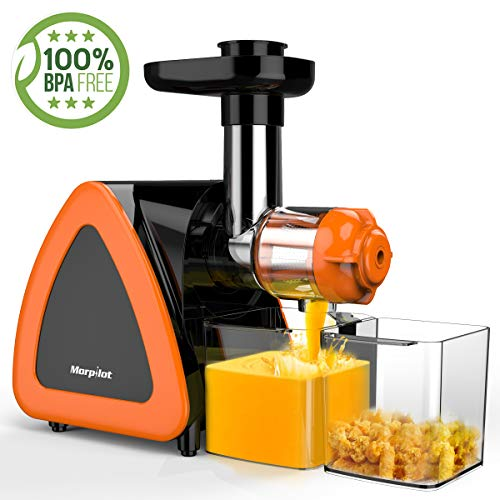 Morpilot Juicer Machine/Cold Press Juicer Machine with Quiet Motor & Reverse Function, Higher Juicer Yield/Easy to Clean/BPA-Free, Slow Speed Masticating Juicer Extractor for Fruits and Vegetables.