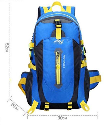 LQABW Alpinismo Outdoor Spalla Uomini Donne Impermeabile Pacchetto Di Svago Di Grande Capienza 65L Borsa Da Viaggio Zaino 40L,Green Blue