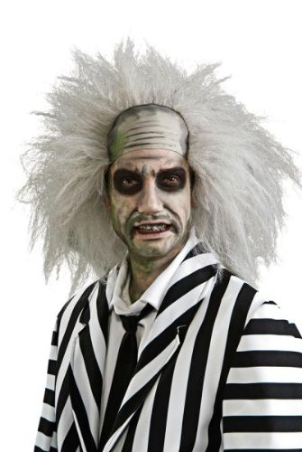 Beetlejuice Perücke Halloween Kostüme Cosplay Wig Perücke Haar für Maskerade Make-up Party (Beetlejuice Haar)