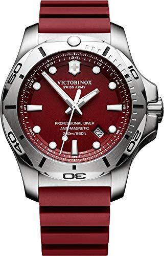 Victorinox Swiss Army Unisex Analog Quarz Uhr mit Kautschuk Armband 241736 (Herren Watch Army Swiss)