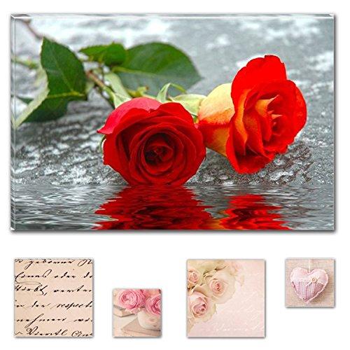 lumiere-eco-bundle-lovely-sur-toile-fleurs-roses-sur-leau-60-x-90-cm-pour-decoration-interieure-et-a