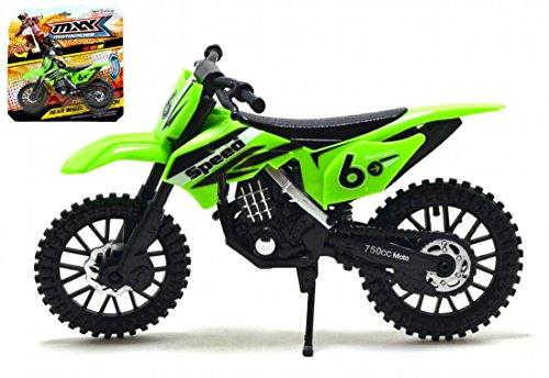 MXX Verde Motocross moto Modelo a escala moto de juguete moto MXS Moto de juguete