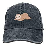 Aoliaoyudonggha Sleep Sloth Unisex Adjustable Baseball Caps Denim Hats Cowboy Sport Outdoor