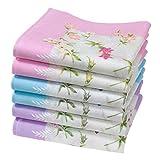 """6 pañuelos para mujer - 100% algodón - Modelo """"Abby"""""""