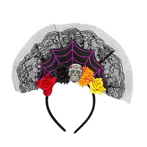 WIDMANN?Tocado Dia de los muertos Womens, multicolor, talla única, vd-wdm09641