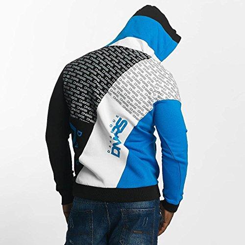 Dangerous DNGRS-Felpa con cappuccio da uomo con Logo Blu