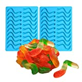 OFKPO 2 Pezzi Caramella Stampi in Silicone - Stampo per Caramelle e Cioccolatini(Blu)