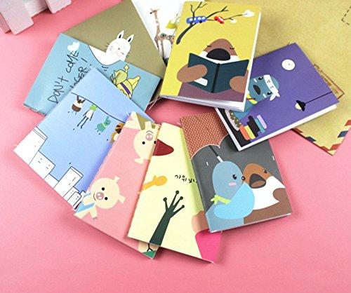 leine Tasche mit Handy Notepad Paper Notizbuch, 1Stück, zufällige ()