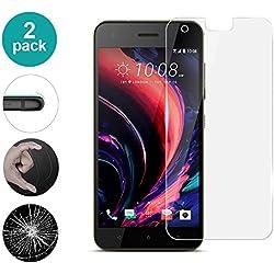 AIOIA Verre Trempé pour HTC Desire 10 Pro【2 Paquet】 Film Protection en Verre Trempé Écran Protecteur Vitre Anti Rayures sans Bulles, 9H Screen Protector pour HTC Desire 10 Pro HD Ultra Transparent
