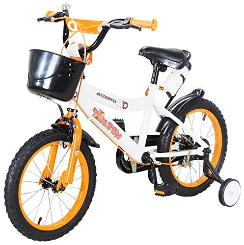 Actionbikes Kinderfahrrad Timson ab 3 Jahren 12 16 20 Zoll Gelb Kinder Mädchen Jungen Fahrrad (16` Zoll)