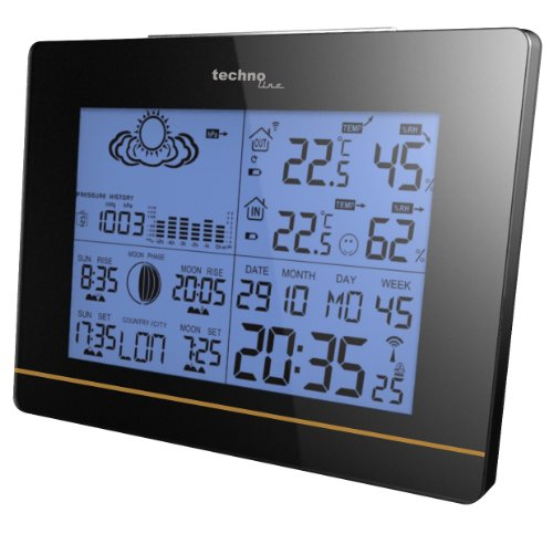 Technoline Wetterstation WS 6750 mit Vorhersage von Wettersituation und Anzeige von Mondphasen in Form von Icons