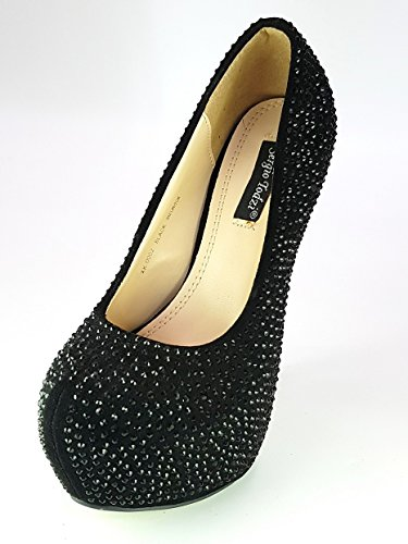 Shoes Scarpe Donna Ragazza Moda Comoda New decoltè Decolletè dekol'tè Tacco Nero