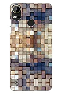 AMAN Wooden 3D Back Cover for HTC Desire 10 Pro