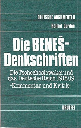 Die Benes-Denkschriften.