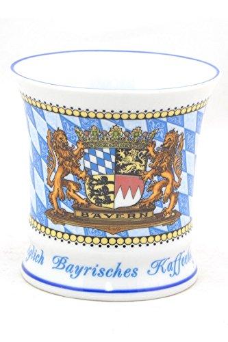 Kaffeetasse Königlich Bayerisch, Stilvolles Bayerisches Kaffeehaferl, Wappen Bayern, Rautenmuster, Außergewöhnliche Form Bayern Tee-set