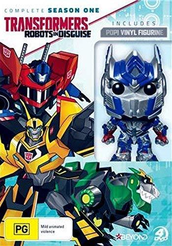 Transformers: Getarnte Roboter / Transformers: Robots in Disguise Season 1 plus Optimus Prime Figurine 4-DVD Box Set ( ) [ Australische Import ] (Transformers Dvd Box Set)